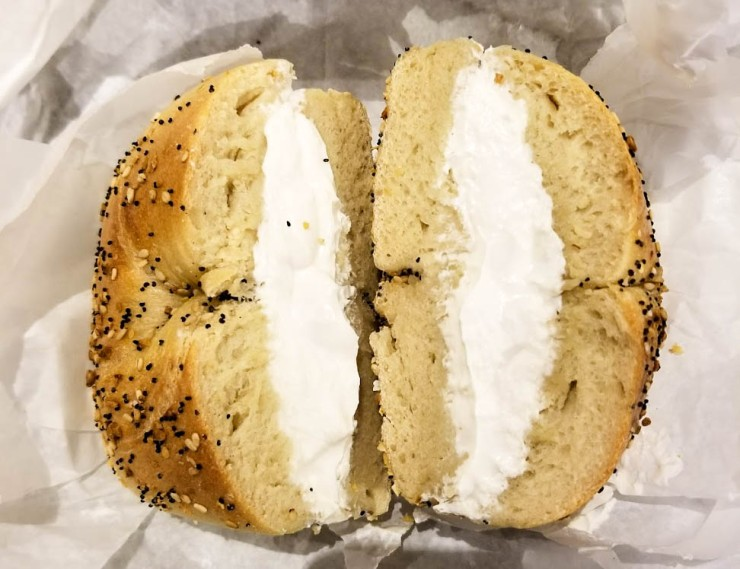 Everything Bagel with Plain Tofu Spread (1 of 1)