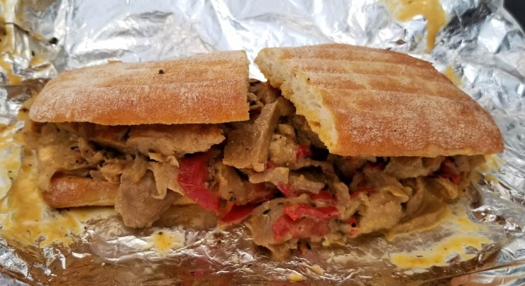 Philly Cheese Seitan Sandwich (1 of 1)