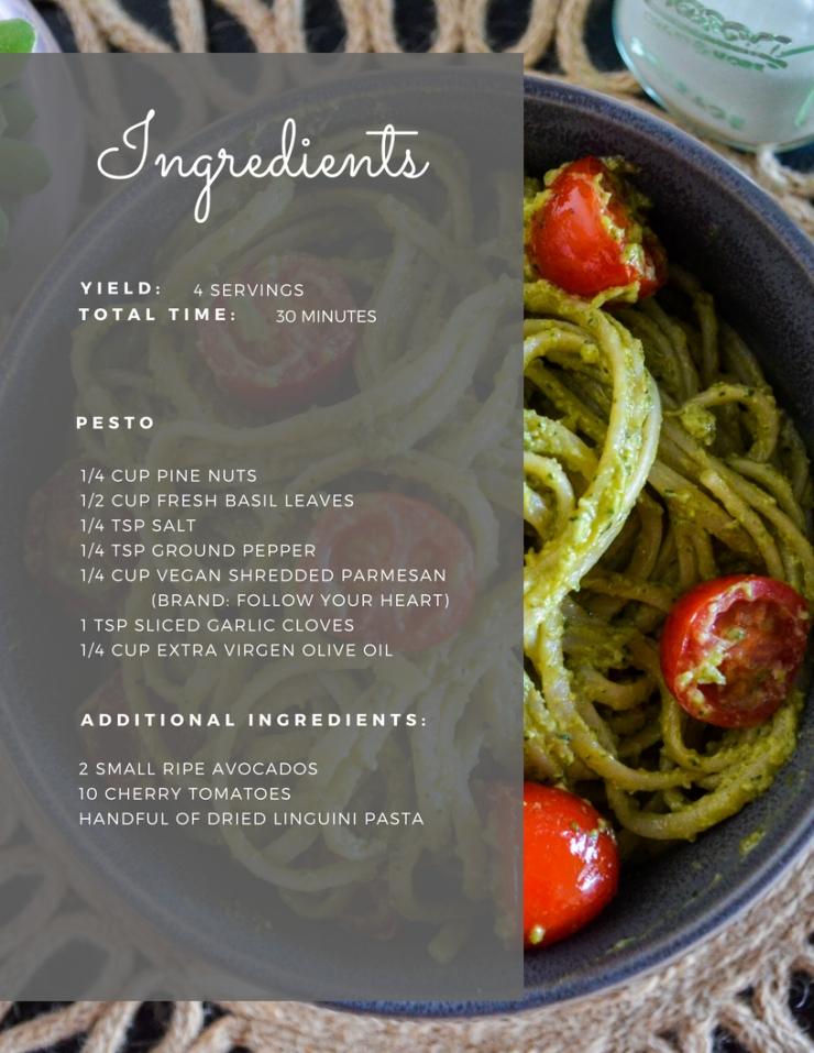 Avo-Pesto Ingredients
