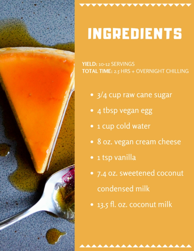 Flan Ingredients